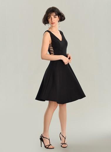 Agenda Biye Detaylı Elbise Siyah